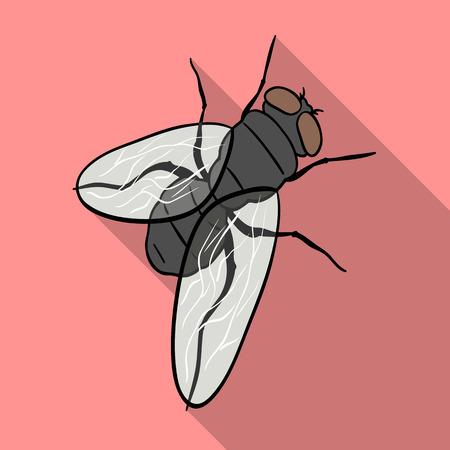 Dipterous insect fly.Dipterous insect fly single icon in flat style vector symbol stock isometric illustration web.