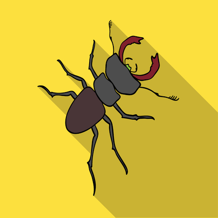 arthropodous insect. A bug with claws single icon in flat style vector symbol stock isometric illustration web. Çizim