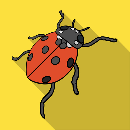 Ladybug is an arthropod.The insect bug,ladybug single icon in flat style vector symbol stock isometric illustration web.