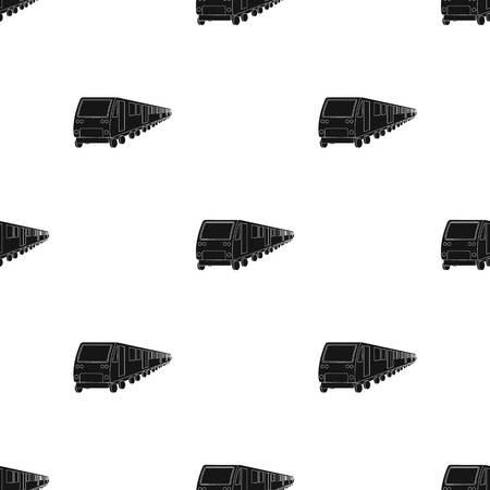 Train, single icon in black style.Train, vector symbol stock illustration web.