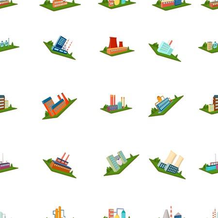Verwerking fabriek, metallurgische installaties en andere productie. Fabriek en industrie set collectie iconen in cartoon stijl isometrische vector symbool stock illustratie web.