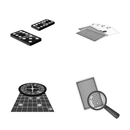 Excitement, casino, game and other web icon in monochrome style Magnifier, cheating, entertainment, icons in set collection.