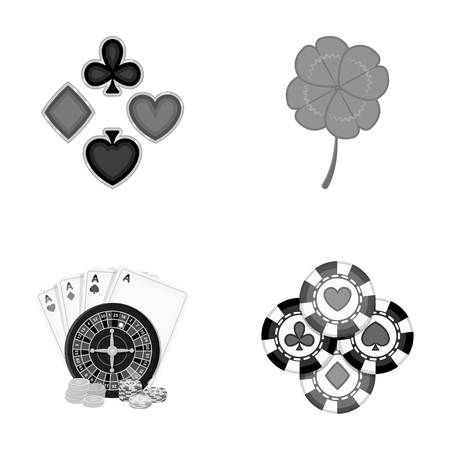 Excitement, casino, game and other web icon in monochrome style. Cheating, entertainment, recreation, icons in set collection.
