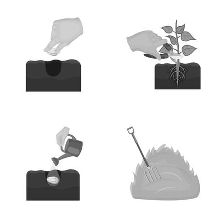 Garden, ecology, farmingand other web icon in monochrome style. Feed, plot, farm,icons in set collection.