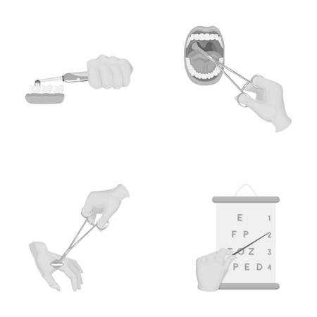Dental care, wound treatment and other web icon in monochrome style.oral treatment, eyesight testing icons in set collection. Illustration