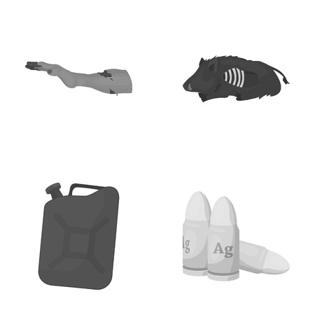 Rotten, flesh, boar, and other web icon in monochrome style.Apocalypse, end, world icons in set collection.