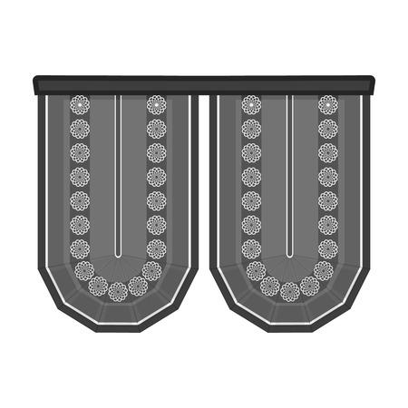 Cornice single icon in monochrome style.Cornice, vector symbol stock illustration web.