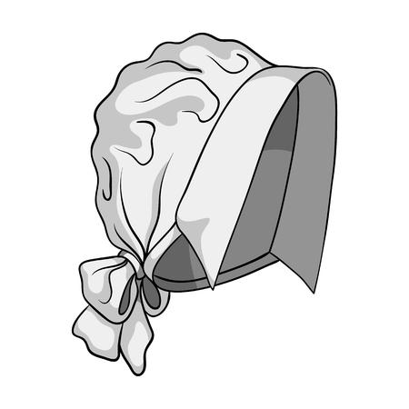 Headpiece, single icon in monochrome style.Headpiece, vector symbol stock illustration web.