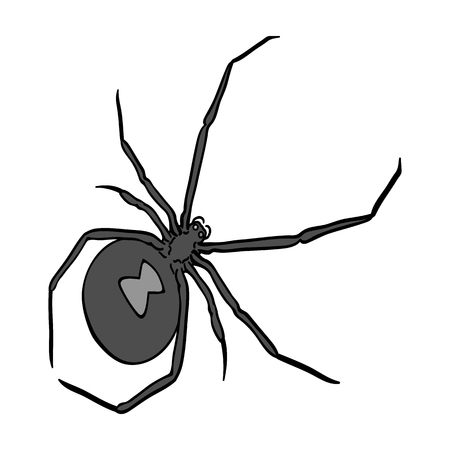 An arthropod bug is an insect.A spider, a predatory insect single icon in monochrome style vector symbol stock isometric illustration web. Illustration