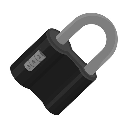 Door lock. Code lock single icon in monochrome style vector symbol stock illustration web.