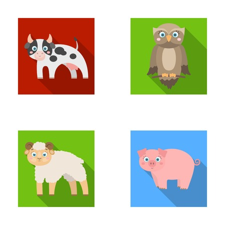 Forest, ecology, toys and other web icon in flat style.Animals, farm, enterprises icons in set collection.