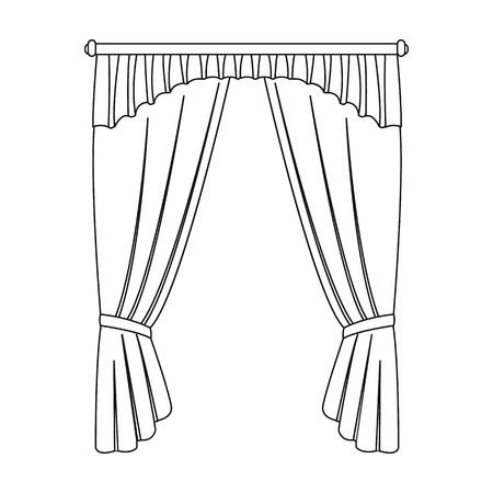 Cornice, single icon in outline style.Cornice, vector symbol stock illustration . Çizim