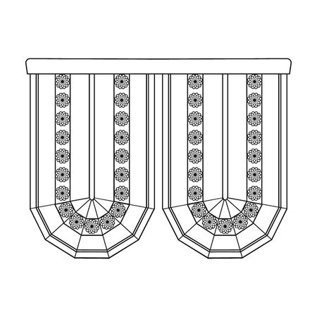 Cornice single icon in outline style.Cornice, vector symbol stock illustration . Иллюстрация