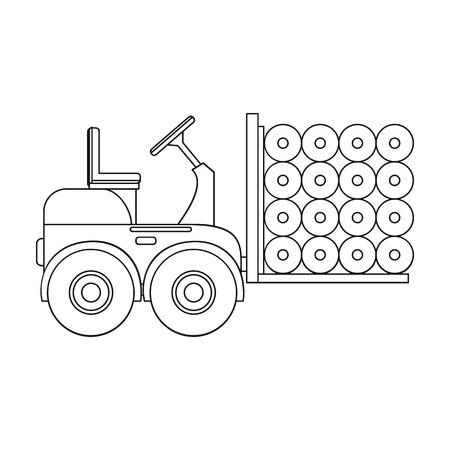 Machine, één pictogram in overzichtsstijl. Machine vector symbool stock illustratie. Stock Illustratie