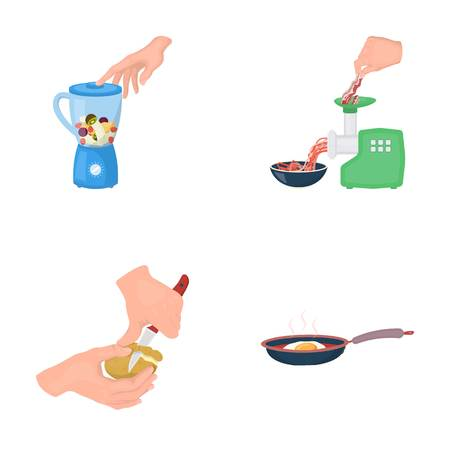meat grinder: equipment, appliances, appliance and other  icon in cartoon style., cook, tutsi. Kitchen, icons in set collection. Illustration