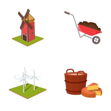 Garden, plot, ecology and other  icon in cartoon style. Drink, liquid, farm icons in set collection.