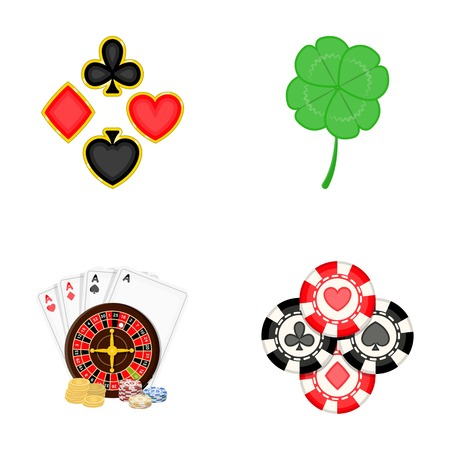 Excitement, casino, game and other  icon in cartoon style. Cheating, entertainment, recreation, icons in set collection Illustration