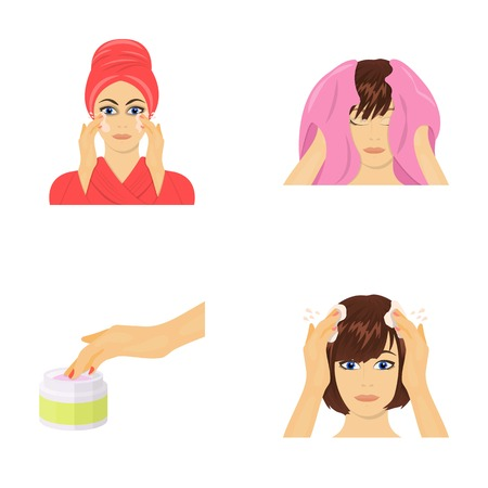 Cosmetic, salon, hygiene, and other  icon in cartoon style. Napkin, hygienic, hairdresser icons in set collection