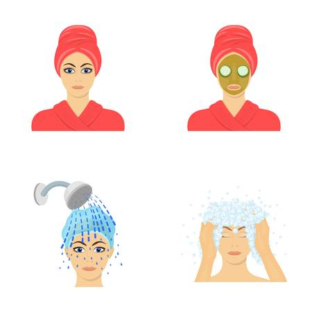 Hands, hygiene, cosmetology and other  icon in cartoon style.Bath, clothes, means icons in set collection.