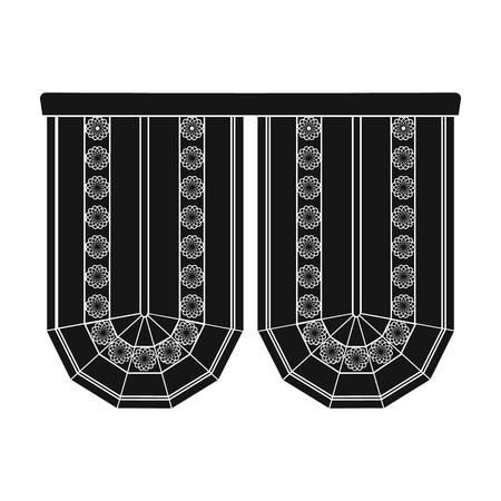 Cornice single icon in black style.Cornice, vector symbol stock illustration .