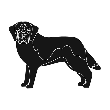 hounds: Beagle, single icon in black style.Beagle, vector symbol stock illustration . Illustration
