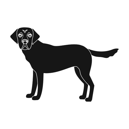 Mastiff, single icon in black style.Mastiff, vector symbol stock illustration . Illustration