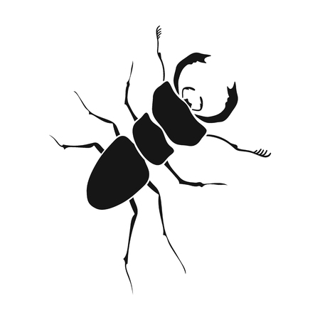 arthropodous insect. A with claws single icon in black style vector symbol stock isometric illustration .