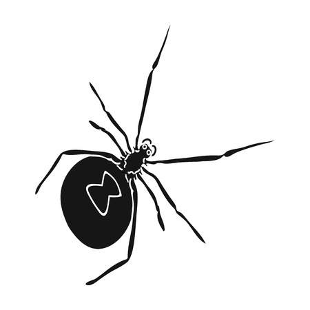 An arthropod bug is an insect.A spider, a predatory insect single icon in black style vector symbol stock isometric illustration . Çizim