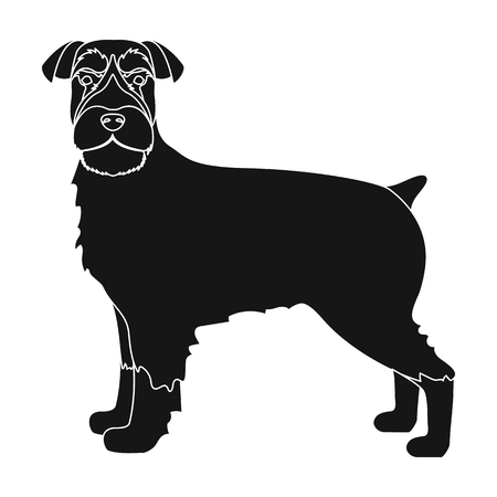 hounds: Terrier, single icon in black style.Dog, vector symbol stock illustration .
