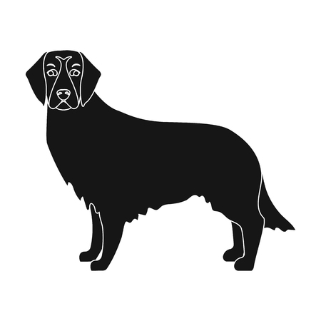 hounds: Retriever single icon in black style.Retriever vector symbol stock illustration .