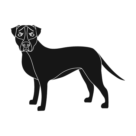 hounds: Labrador, single icon in black style.Labrador, vector symbol stock illustration .