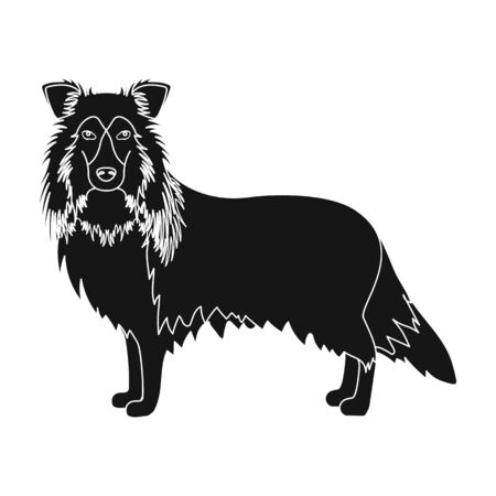 hounds: Laika single icon in black style.Laika, vector symbol stock illustration .