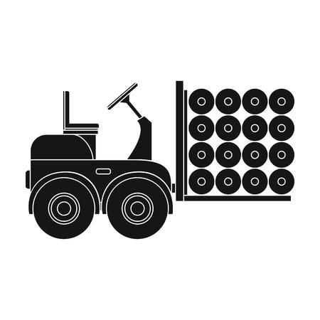Machine, één pictogram in zwarte stijl. Machine vector symbool stock illustratie. Stock Illustratie