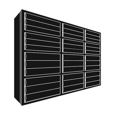 Rack single icon in black style.Rack, vector symbol stock illustration .