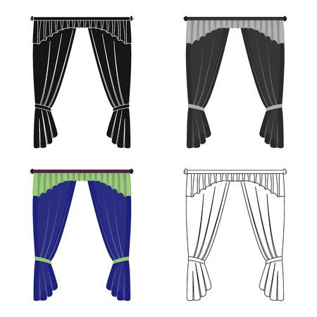 Cornice, single icon in cartoon style.Cornice, vector symbol stock illustration . Çizim