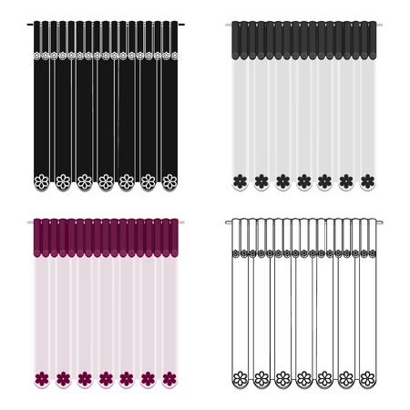 Curtains, single icon in cartoon style.Curtains vector symbol stock illustration . Иллюстрация