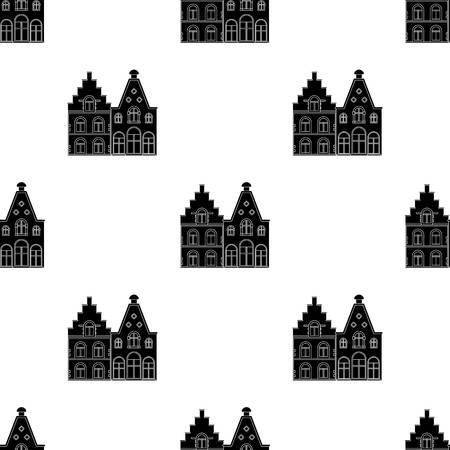 residential homes: Housing in Belgium.The dark Belgian wolf. Belgium single icon in black style vector symbol stock web illustration.