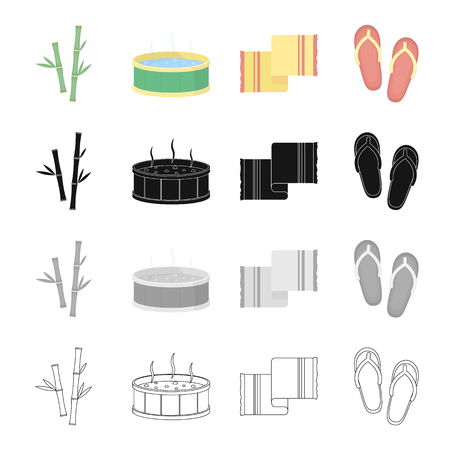 Rest, hygiene, spa and other web icon in cartoon style.Slates, slapping, shoes, icons in set collection. 向量圖像