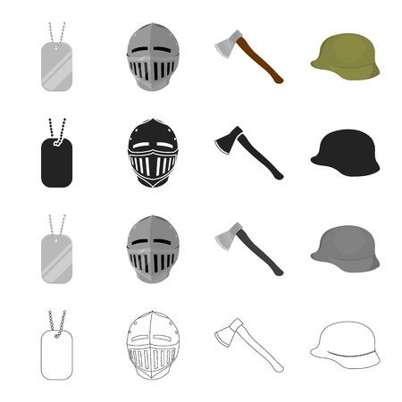 頭部、帽子、戦争のアイコン セットのコレクション。