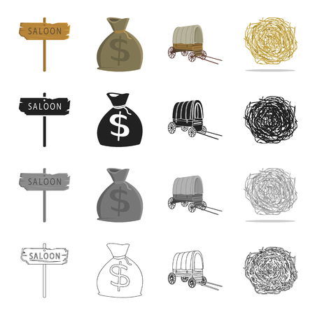 Cart, money, signage and other icons in set collection.
