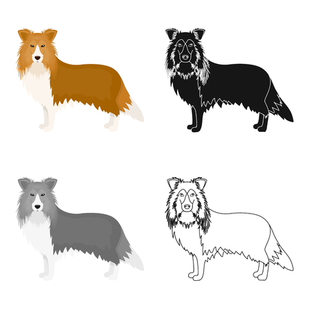 hounds: Laika single icon in cartoon style.Laika, vector symbol stock illustration web.