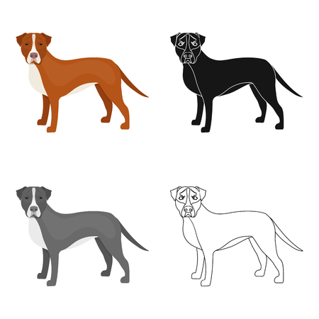 hounds: Labrador, single icon in cartoon style.Labrador, vector symbol stock illustration web.