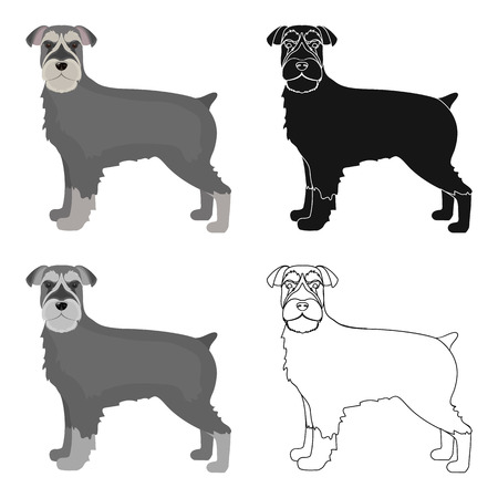 hounds: Terrier, single icon in cartoon style.Dog, vector symbol stock illustration web.