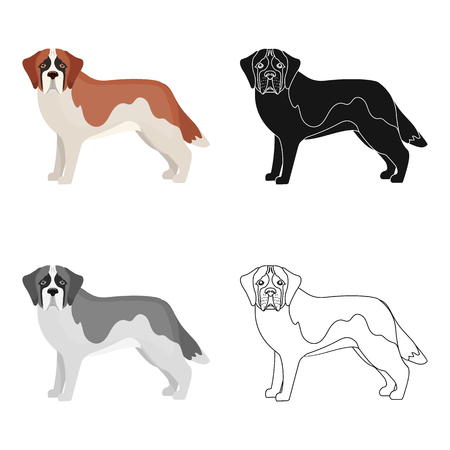 hounds: St Bernanrd , single icon in cartoon style.symbol stock illustration web. Illustration