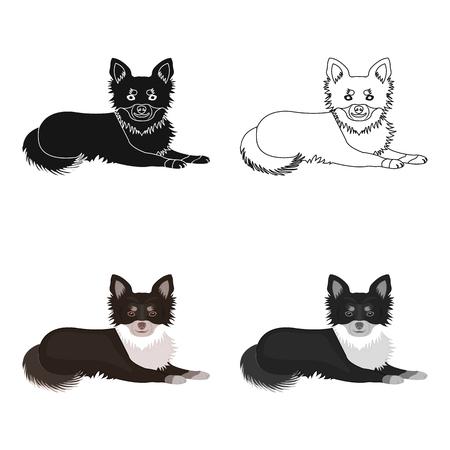 A pet, a lying dog 向量圖像