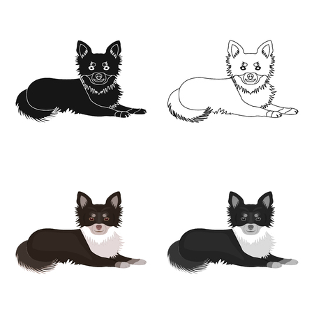 A pet, a lying dog Illustration