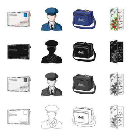 Envelope, letter, telegram, and other  icon in cartoon style.Writing, messege, cover icons in set collection