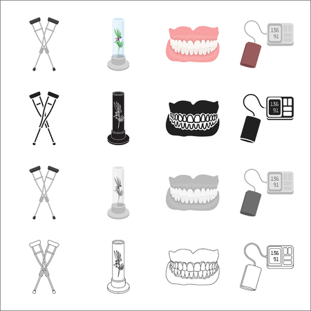 Medicine, hospital, polyclinic and other  icon in cartoon style., Attributes, equipment, hygiene icons in set collection Illustration