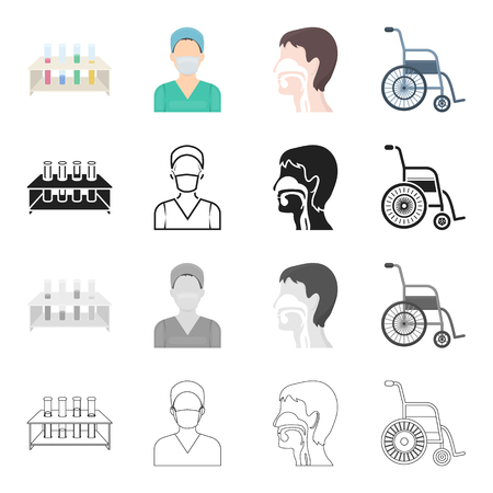 polyclinic: Hospital, medicine, polyclinic and other  icon in cartoon style. Metal, equipment, facilities icons in set collection. Illustration