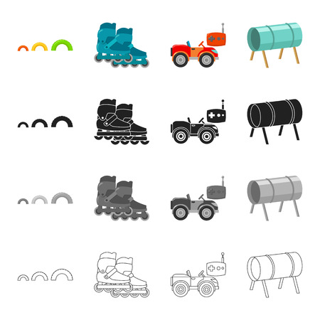 Training, entertainment, leisure and other  icon in cartoon style.Metal, pipe, legs icons in set collection. Ilustracja